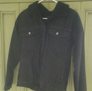 F21 sherpa jacket
